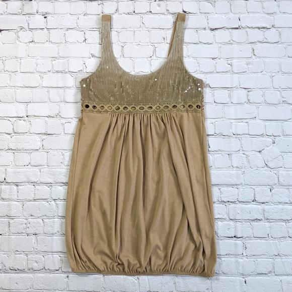 Freeway Dresses & Skirts - Sequin Taupe Mini Dress